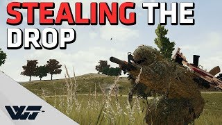 STEALING THE DROP - Bait drop? I'll take it! - PUBG