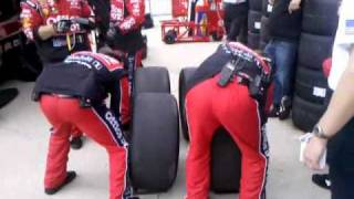 Stewart-Haas Racing: Pit Stop Fontana, CA 3/27/11