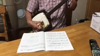 白虎隊の伴奏を津軽三味線で演奏してみました.