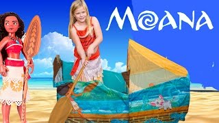 Exploring the Moana and Maui Surprise Canoe Tent with the Assistant
