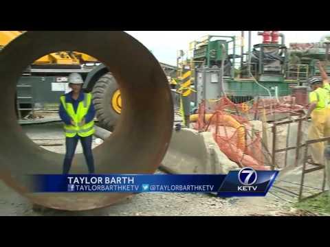 Big progress for new sewage pipe project in Heartland America Park