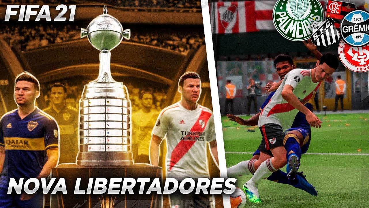 COMO ESTÁ A NOVA LIBERTADORES DO FIFA 21?? CONFERINDO TUDO!!