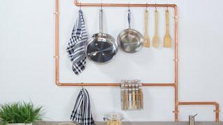 DIY Copper Pipe Kitchen Rack | Eye on Design