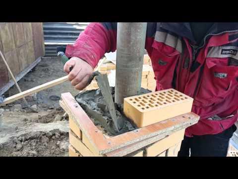 приспособление для кладки столбов из кирпича