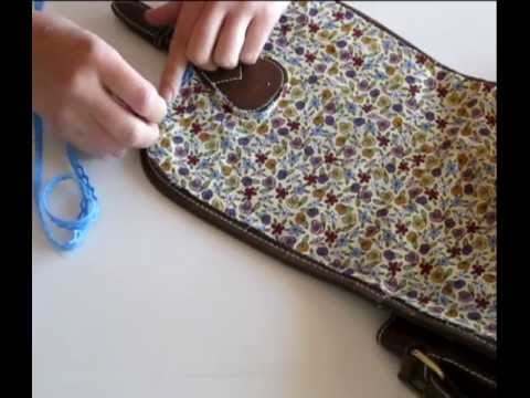 Customiza tus bolsos con tela y puntilla youtube - Como forrar muebles con tela ...