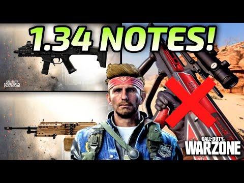 Modern Warfare and Warzone Update 1.34 Patch Notes