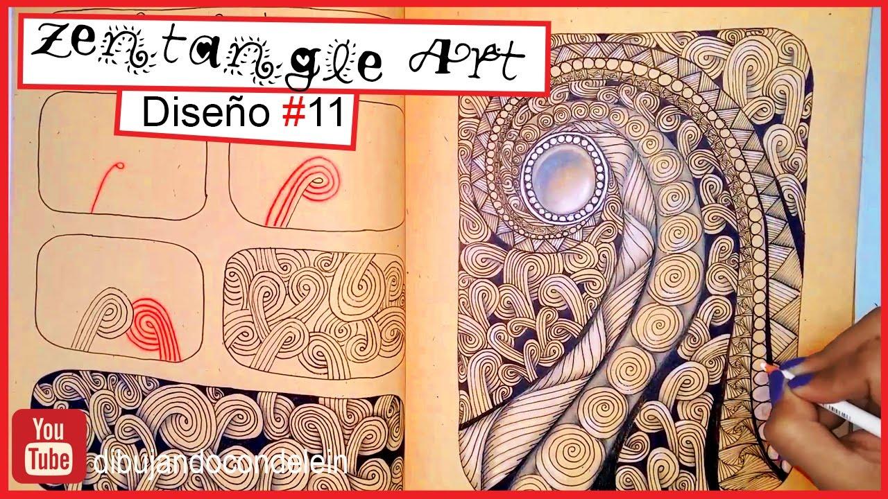 Como Dibujar Zentangle Art Paso A Paso 11 Zentangle Pattern Youtube