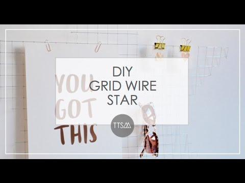 DIY DECOR    WIRE WALL GRID STAR   TTSM