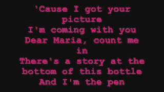 Dear Maria Count Me In Lyrics - All Time Low