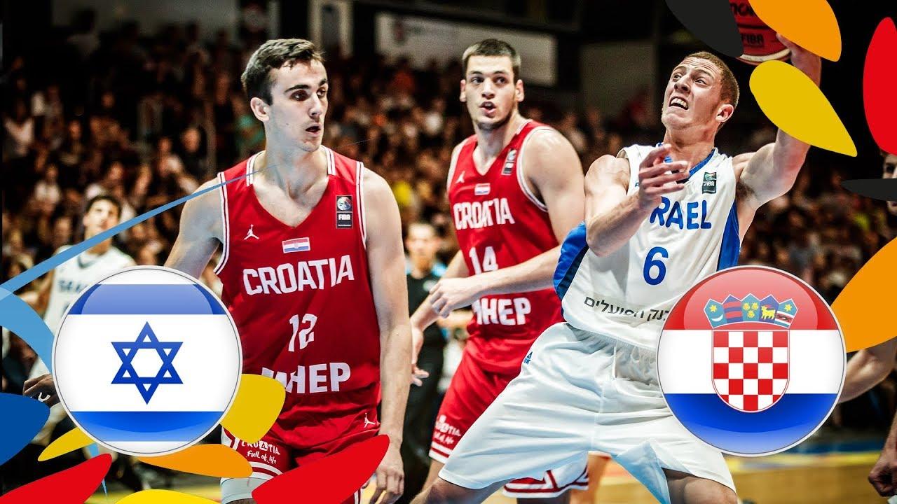 Israel v Croatia - Full Game - Final - FIBA U20 European Championship 2018