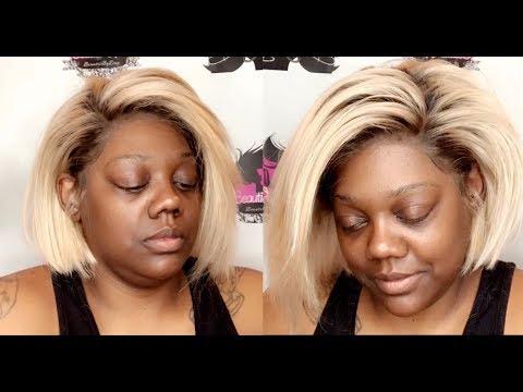 Ash Blonde  Lace 8 Inch Bob