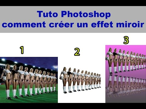 Comment creer un effet miroir tuto photoshop youtube for Image miroir photoshop