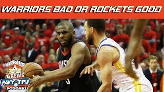 Are the Warriors Losing more than the Rockets are winning ? | Hoops N Brews thumbnail