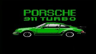 1987 DOS Test Drive Game Porsche 911 Turbo