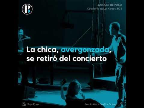 Vocalista de Jarabe de Palo avergüenza a una fan durante un concierto en Los Cabos