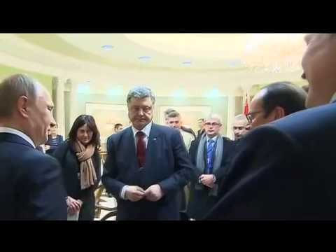 Minsk talks behind the scenes. Handshake Putin & Poroshenko