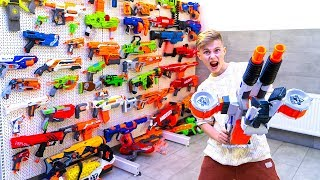 МЕГА-колекция NERF в моём гараже! MEGA-collection NERF in my garage!