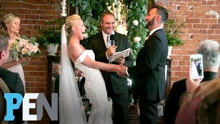 inside cancer survivor sweet valley highs brittany daniels wedding pen entertainment weekly