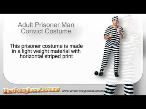 Adult Prisoner Man Convict Costume