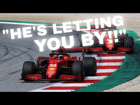 UNHEARD TEAM ORDERS AT FERRARI! LECLERC GET'S ASKED TO LET SAINZ BY! | ALL TEAM RADIO'S