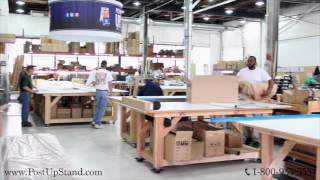 In-House Large Format Banner Printing and Production at Post-Up Stand