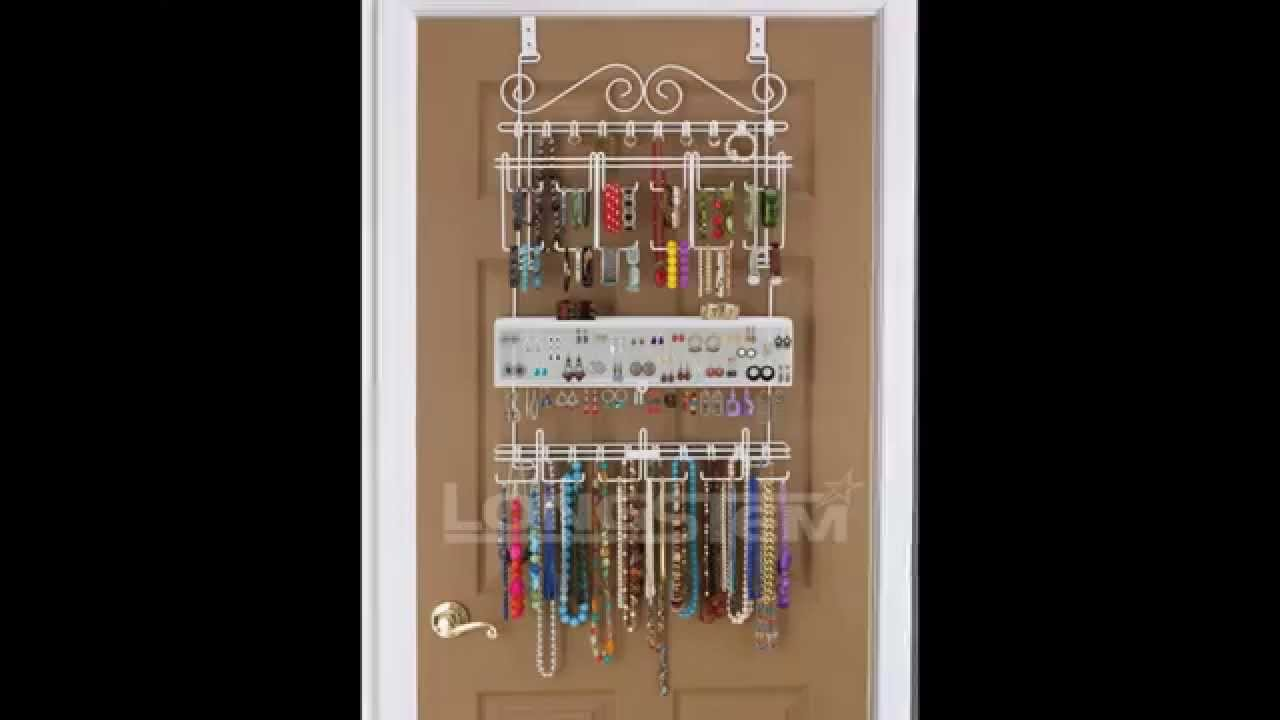 OverdoorWall Jewelry Organizer in White By Longstem Unique