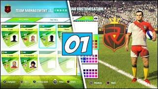 CREATING MY SQUAD in Rugby 20 Ultimate Team (Rugby 20 My Squad Game Mode Gameplay Part 1 | PS4 Pro)