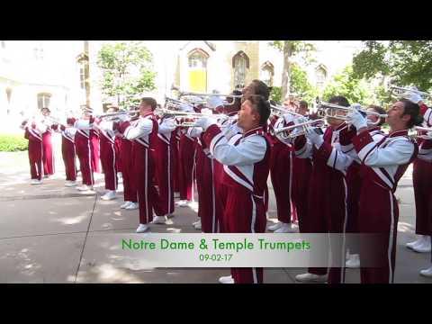 Notre Dame & Temple Trumpets 9-2-17