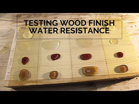 Testing wood finish water resistance: Poly, Wipe-on Poly, Mineral Oil & Rubio Monocoat