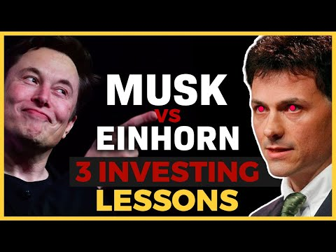 Investing Education - The Musk Einhorn Tesla Stock Fight