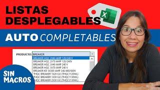 Lista Desplegable AUTOCOMPLETABLE en EXCEL (SIN MACROS!!)