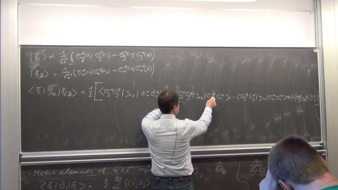 Download CompChem: Correlation: 6a. Slater Condon Rules for minimal basis set H2 molecule
