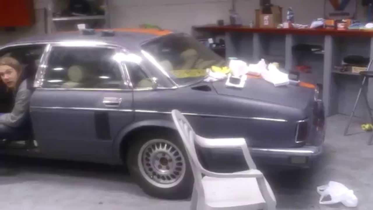 Jaguar XJ40 decat, no rear silencer  YouTube
