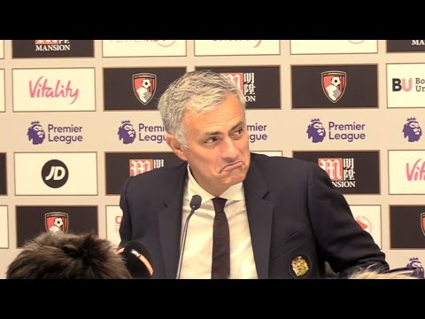 Jose Mourinho's Full Press Conference Following Bournemouth 1-3 Manchester United