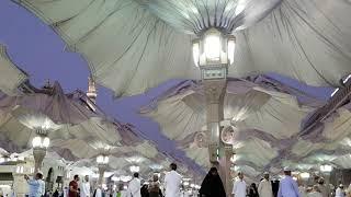 The Umbrellas Opening At Masjid Al Nabawi Medina