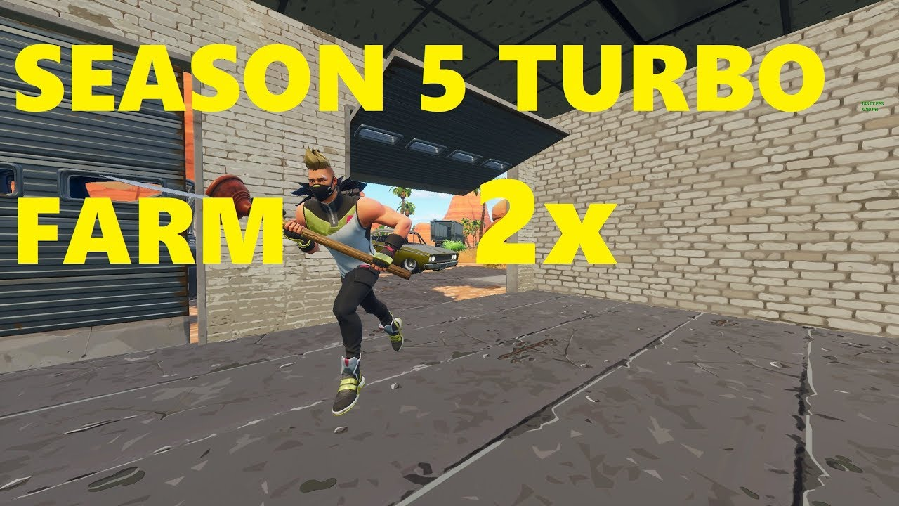 *fixed* How to speed / turbo farm in Fornite Season 5 *New Method* (Fortnite Battle Royal) - It still works after 5.1 you just need to bind it to a non tossable emote like dab/basketball etc