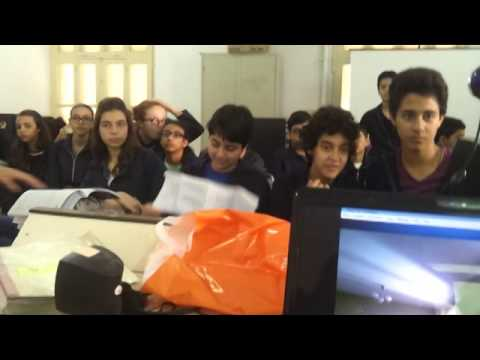 videoconference from the class room with Mr  Anthony Mcharek
