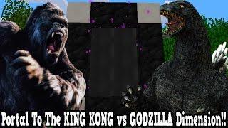 Minecraft How To Make A Portal To The King Kong Vs Godzilla Dimension - Dimension Showcase!!!