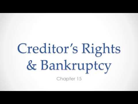 Bankruptcy - Business Law Chapter 15-2