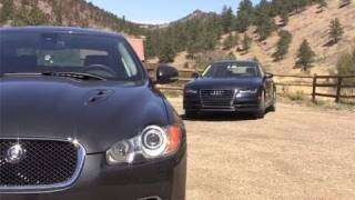 2012 Audi A7 vs Jaguar XFR mashup review