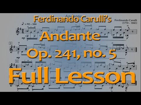 Carulli Andante, op. 241 no. 5 Full Lesson (classical guitar)