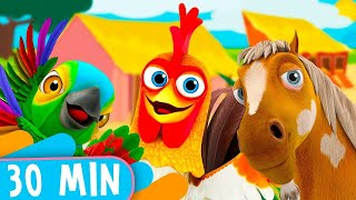30 Minutes! Bartolito and his Farm Friends! - Kids Songs & Nursery Rhymes
