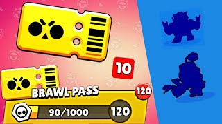 I UNLOCKED ALL THE BRAWL PASS AND ALL BRAWLERS Brawl Stars