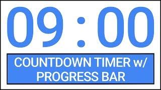 9 min Countdown Timer w/ Progress Bar #Timer #Countdown