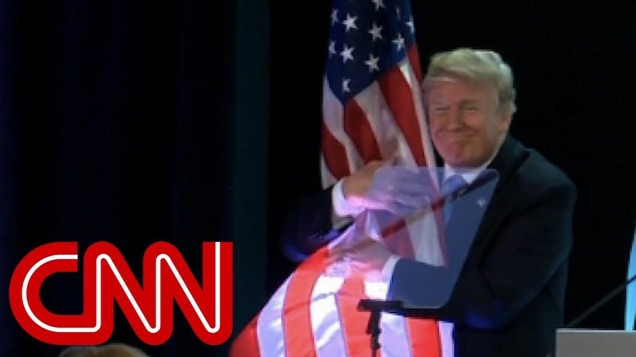 Trump's flag hug goes viral