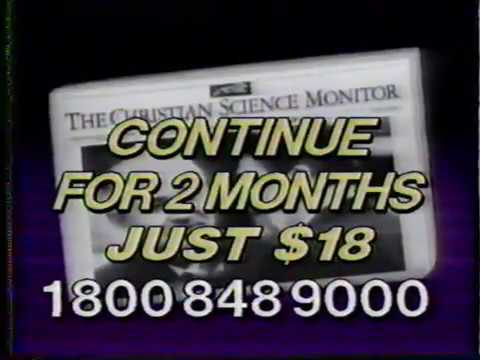 The Christian Science Monitor Magazine/Newspaper TV Ad - 1988