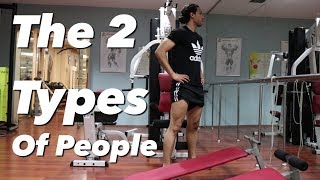 BACK, BICEPS, & ABS WORKOUT & THE 2 TYPES OF PEOPLE | SAIF