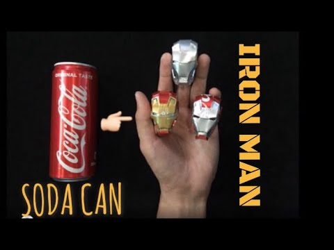 Iron Man Helmet using Soda Can