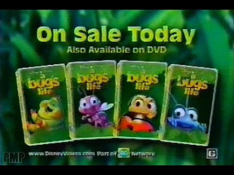 A Bug S Life Vhs Dvd Promo 1999 Youtube