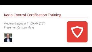 Kerio Control Certification Training